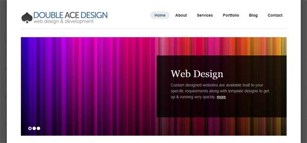 Double Ace Design Website Front Page