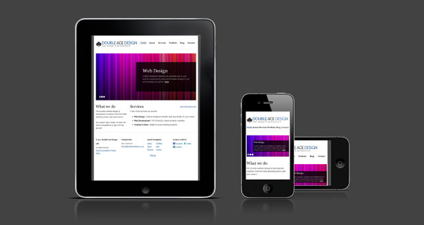 Optimised for iPad & iPhone Websites