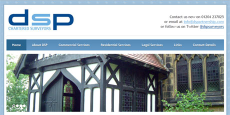 DSP Chartered Surveyors Screenshot